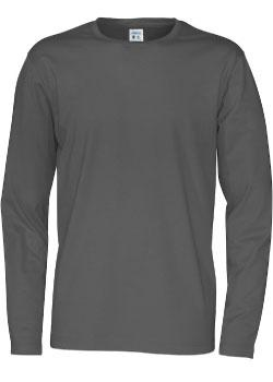 Basic T Langermet T skjorte, Hvit Proffklær AS