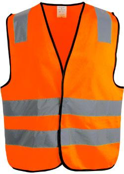 Refleksvest til arbeidsbruk. Orange farge