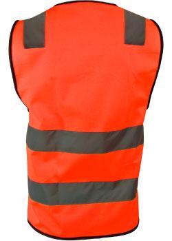 Refleksvest til arbeid og fritidsbruk.  Gul eller orange farge.