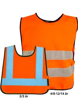 Refleksvest til barn farge Safety Orange